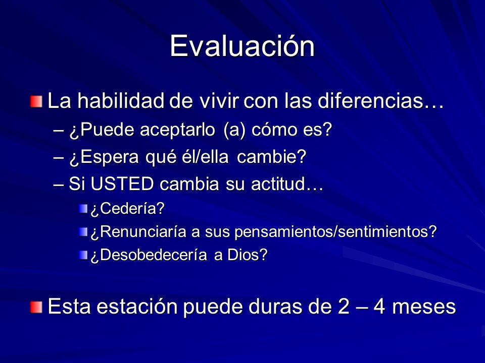 Evaluación La habilidad de vivir con las diferencias…