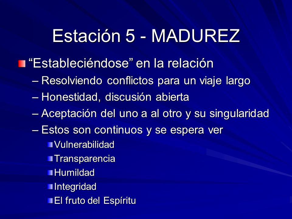 Estación 5 - MADUREZ Estableciéndose en la relación