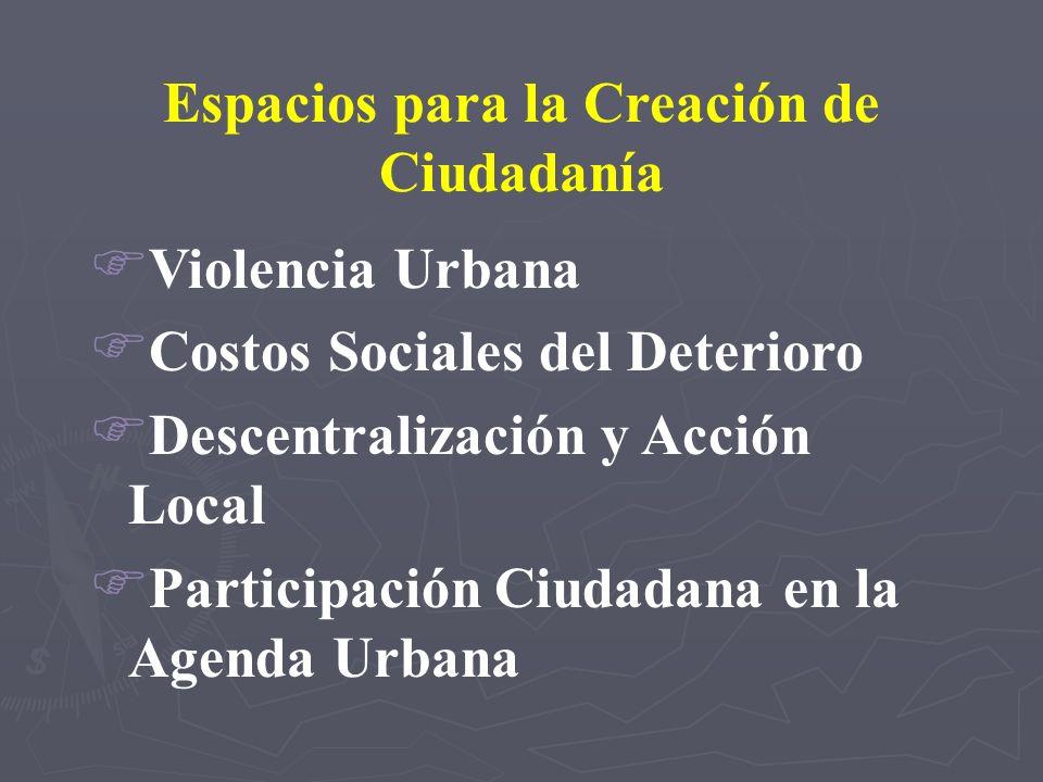 Espacios para la Creación de Ciudadanía