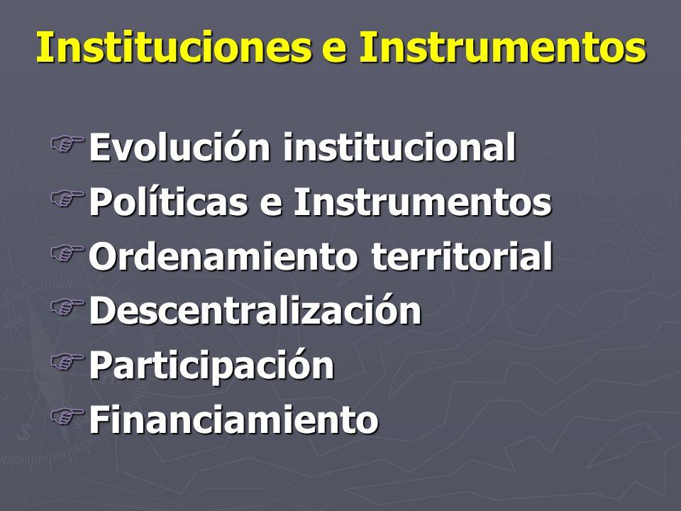 Instituciones e Instrumentos