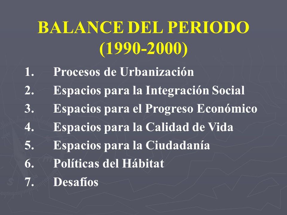 BALANCE DEL PERIODO (1990-2000)