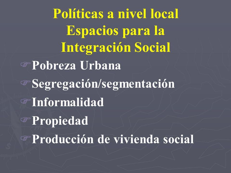 Políticas a nivel local
