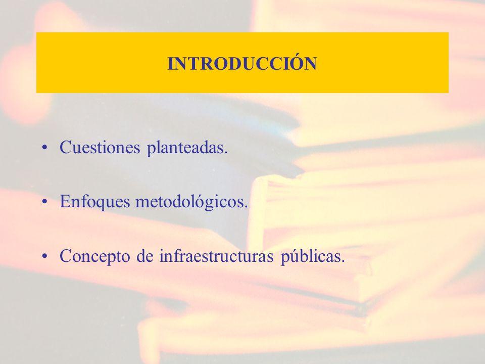 INTRODUCCIÓN Cuestiones planteadas. Enfoques metodológicos. Concepto de infraestructuras públicas.