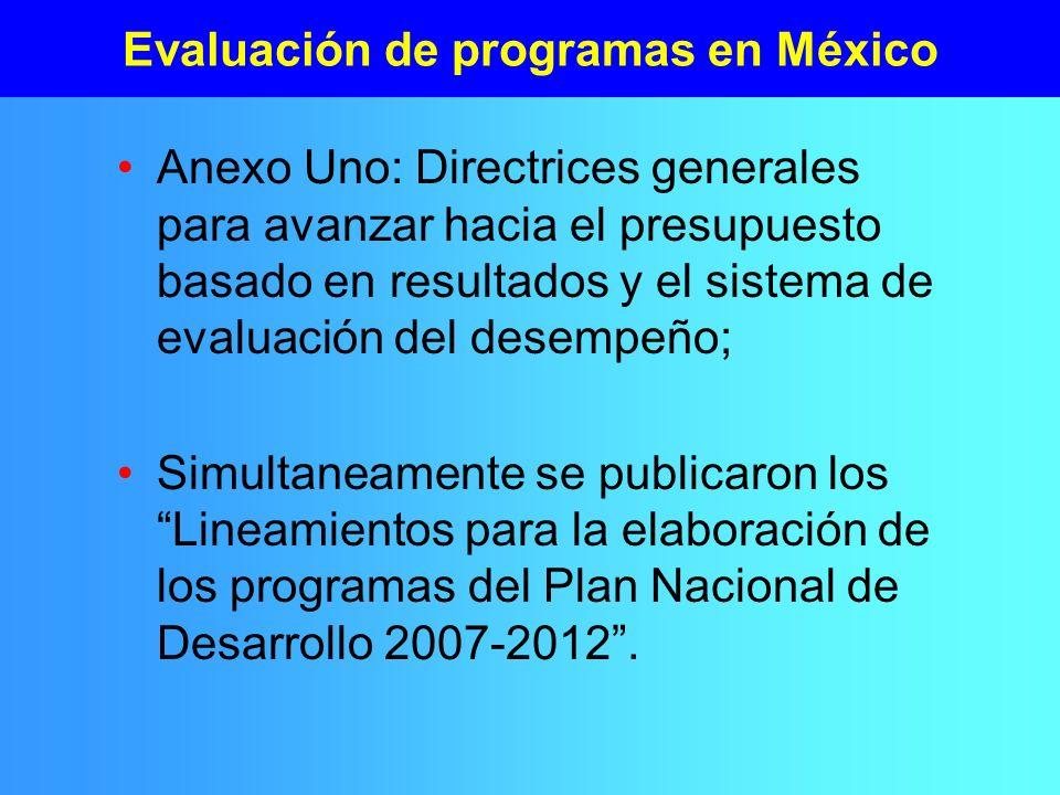 Evaluación de programas en México