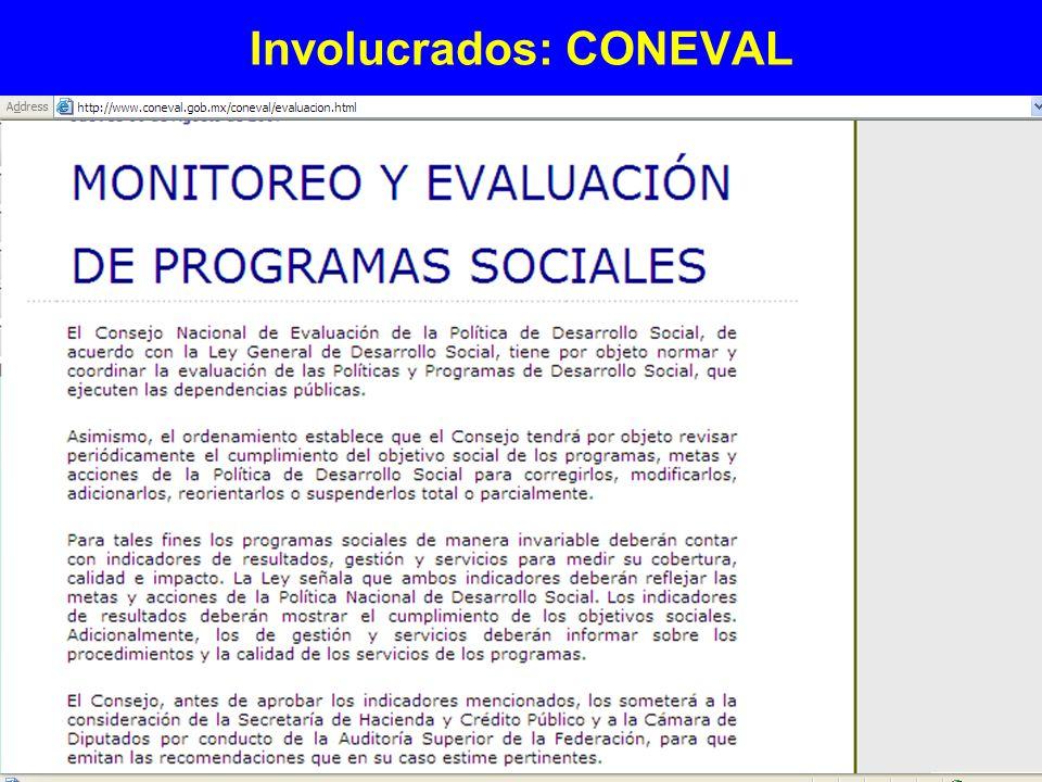 Involucrados: CONEVAL