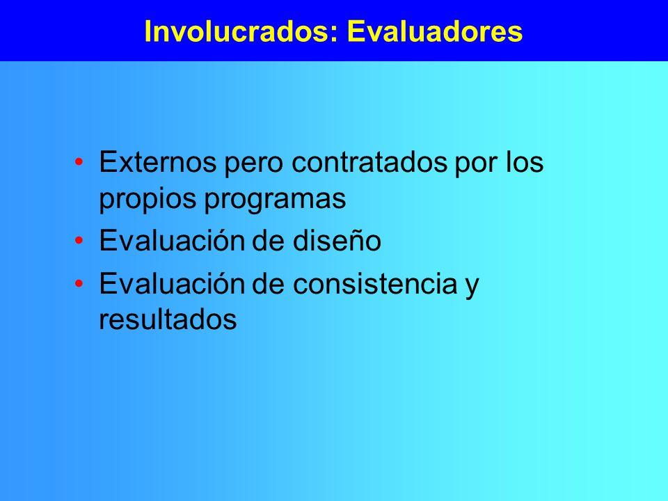 Involucrados: Evaluadores