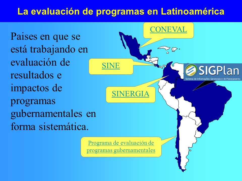 La evaluación de programas en Latinoamérica