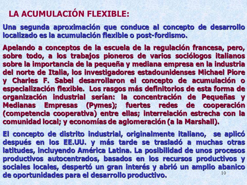 LA ACUMULACIÓN FLEXIBLE: