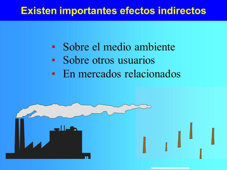 Existen importantes efectos indirectos