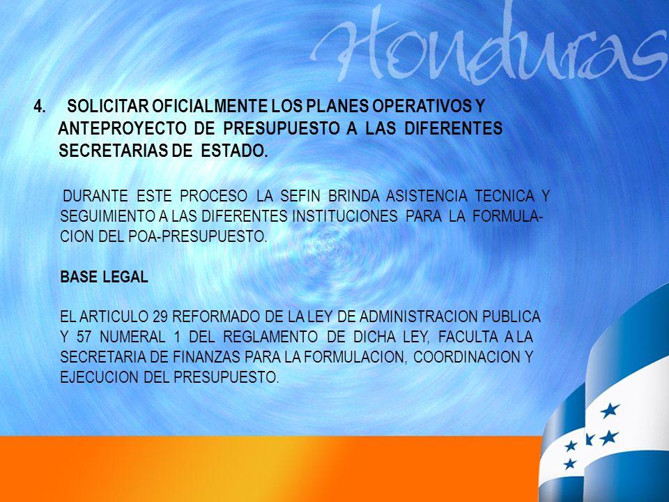 SOLICITAR OFICIALMENTE LOS PLANES OPERATIVOS Y