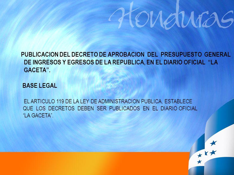 EL ARTICULO 119 DE LA LEY DE ADMINISTRACION PUBLICA, ESTABLECE