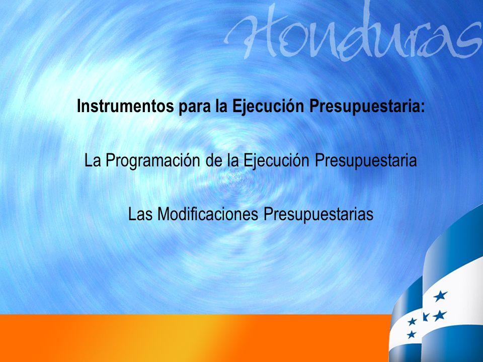 Instrumentos para la Ejecución Presupuestaria: