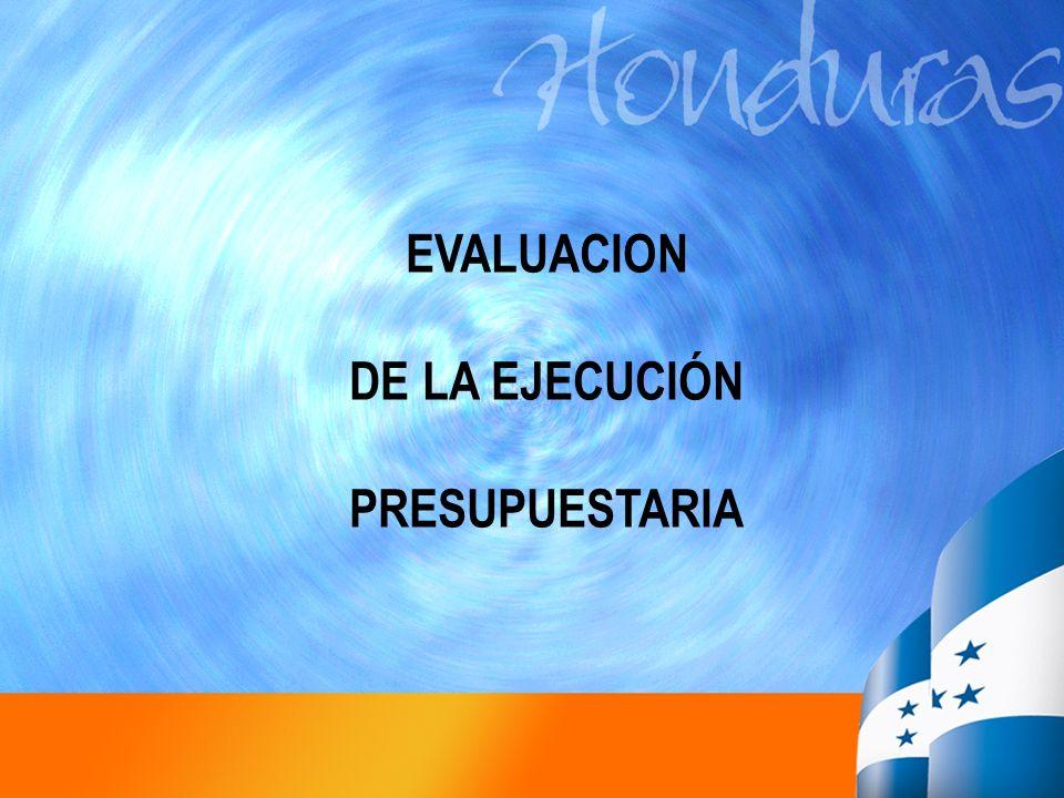EVALUACION DE LA EJECUCIÓN PRESUPUESTARIA