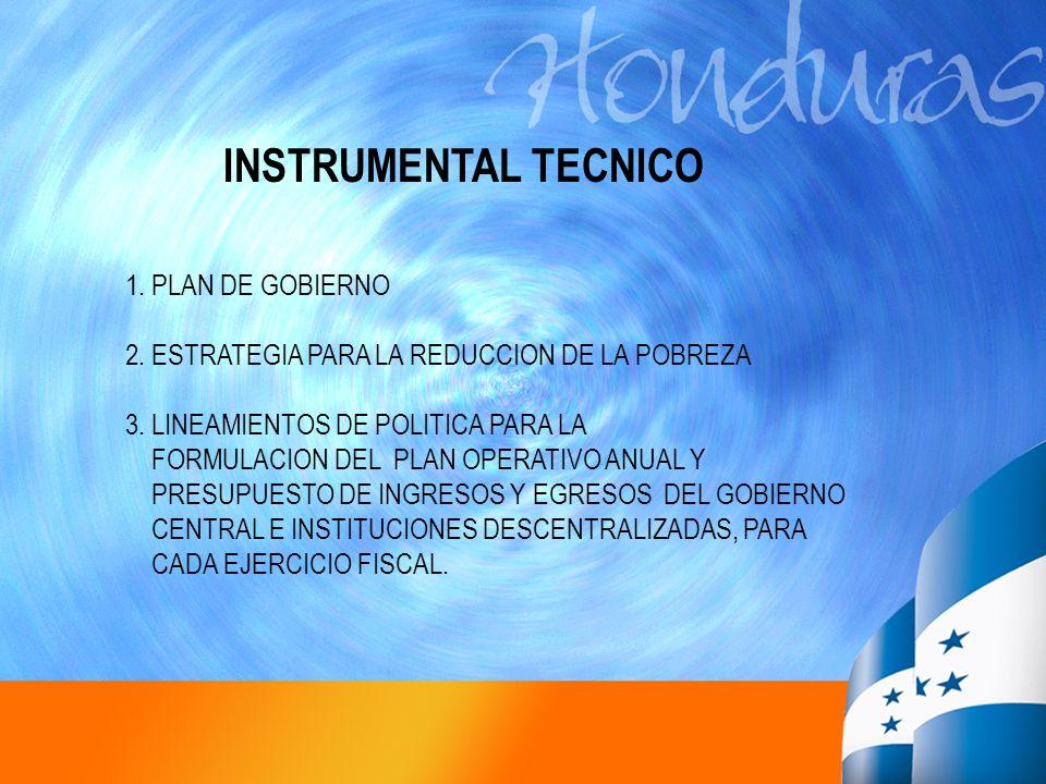 INSTRUMENTAL TECNICO 1. PLAN DE GOBIERNO