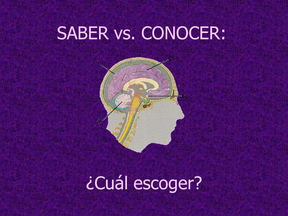 SABER vs. CONOCER: ¿Cuál escoger