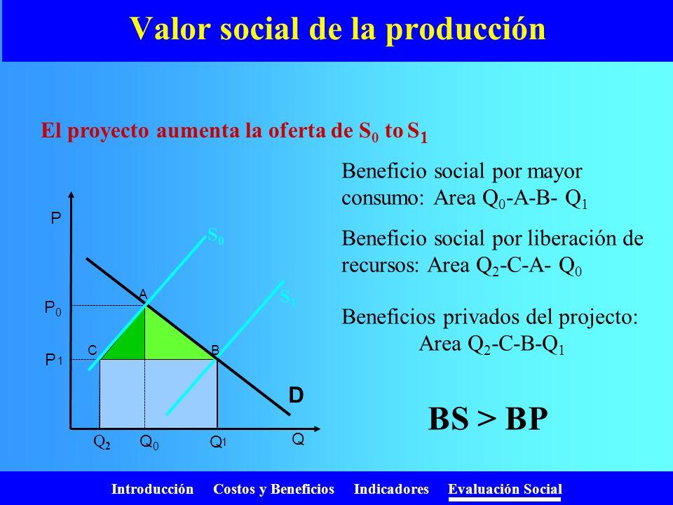 Valor social de la producción