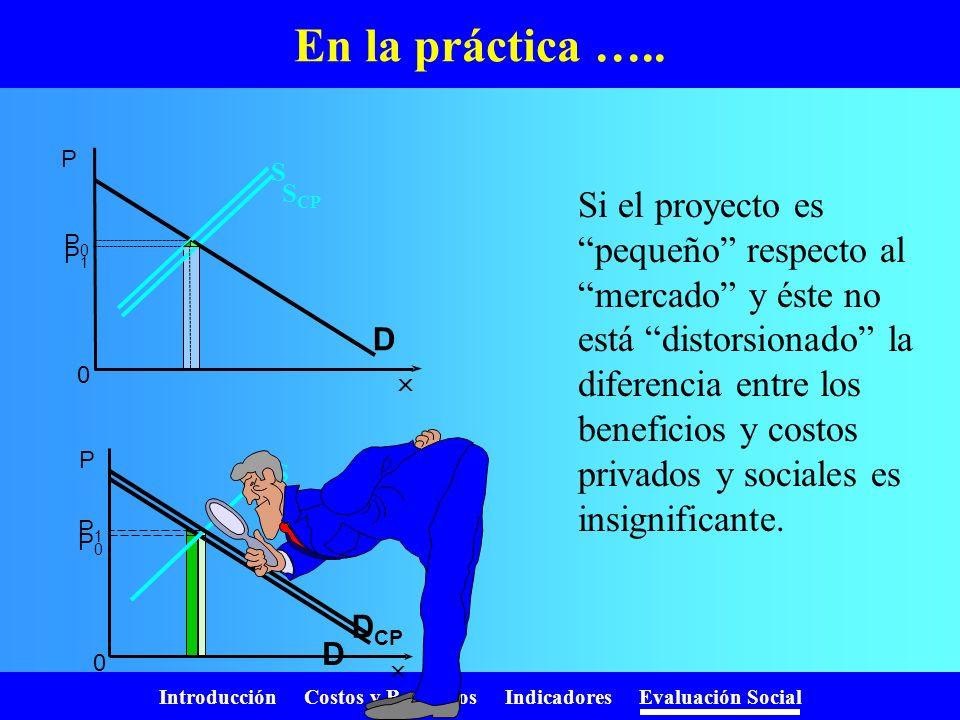 En la práctica ….. SCP. P. D. P0. S. P1.