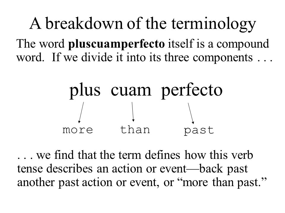 A breakdown of the terminology