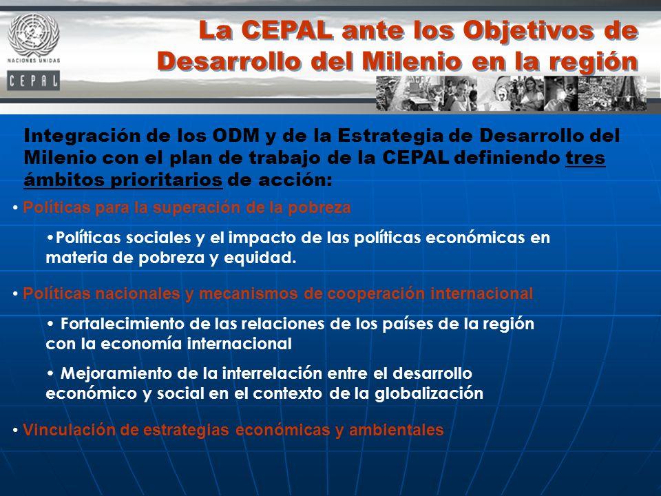 La CEPAL ante los Objetivos de Desarrollo del Milenio en la región