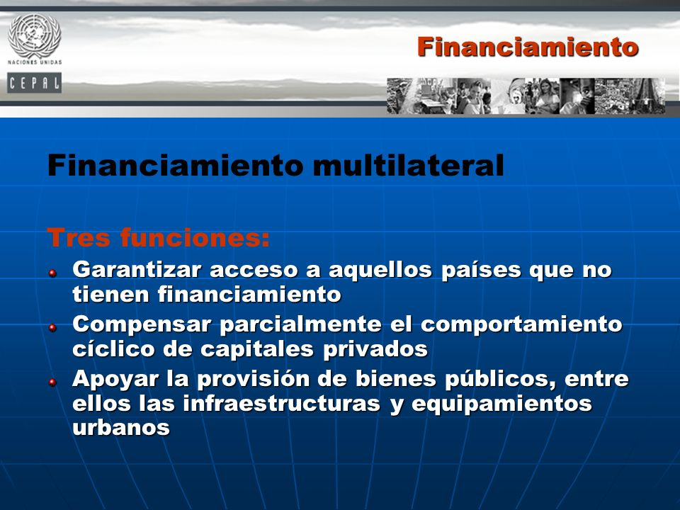 Financiamiento multilateral