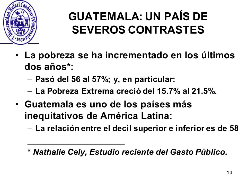 GUATEMALA: UN PAÍS DE SEVEROS CONTRASTES