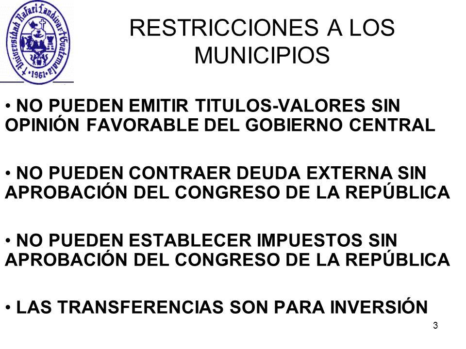 RESTRICCIONES A LOS MUNICIPIOS