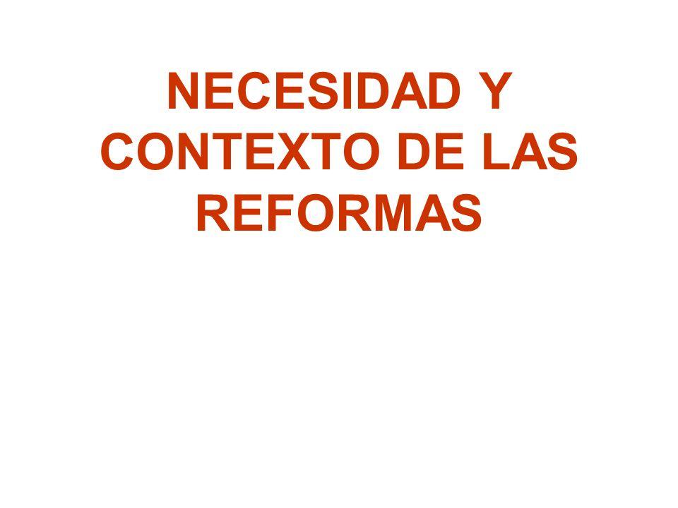 NECESIDAD Y CONTEXTO DE LAS REFORMAS