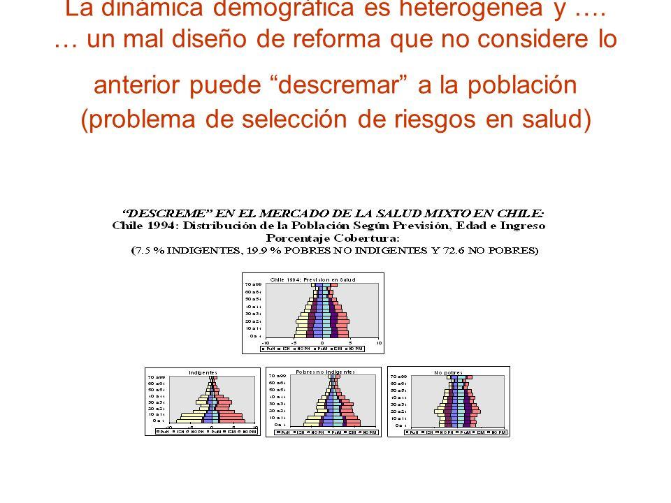 La dinámica demográfica es heterogenea y …