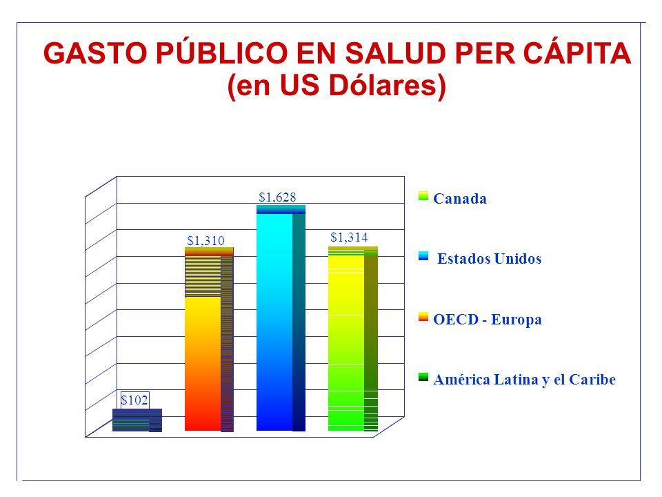 GASTO PÚBLICO EN SALUD PER CÁPITA (en US Dólares)