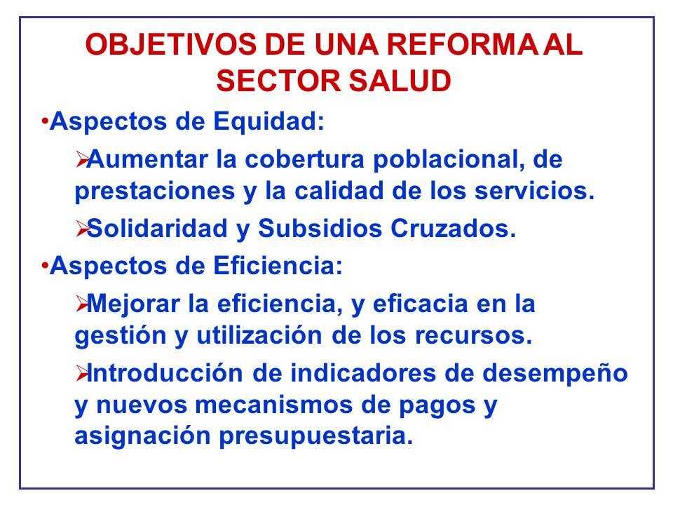 OBJETIVOS DE UNA REFORMA AL SECTOR SALUD