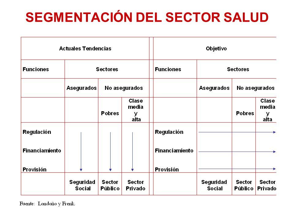 SEGMENTACIÓN DEL SECTOR SALUD