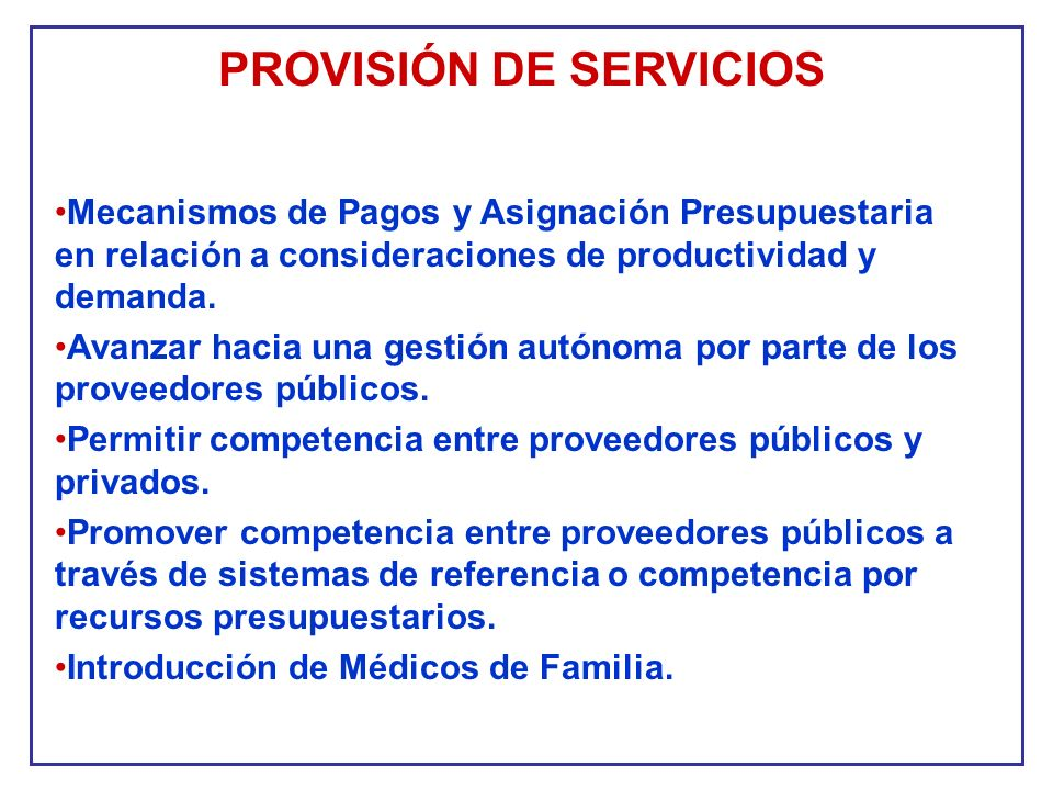 PROVISIÓN DE SERVICIOS