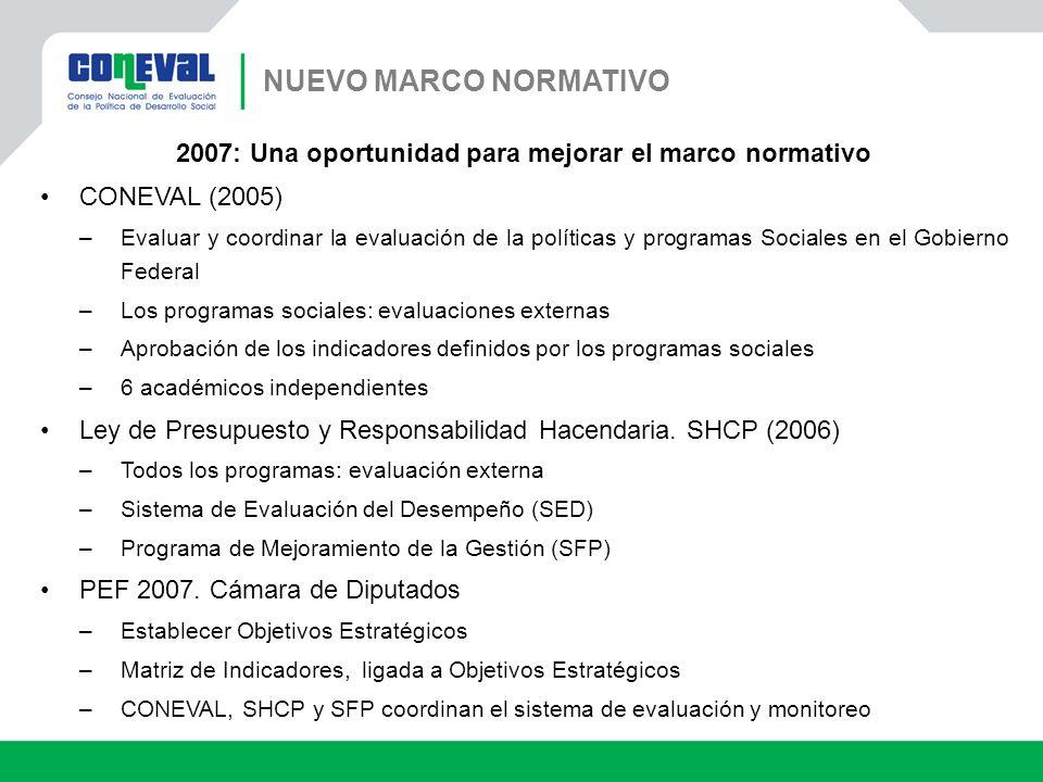 2007: Una oportunidad para mejorar el marco normativo