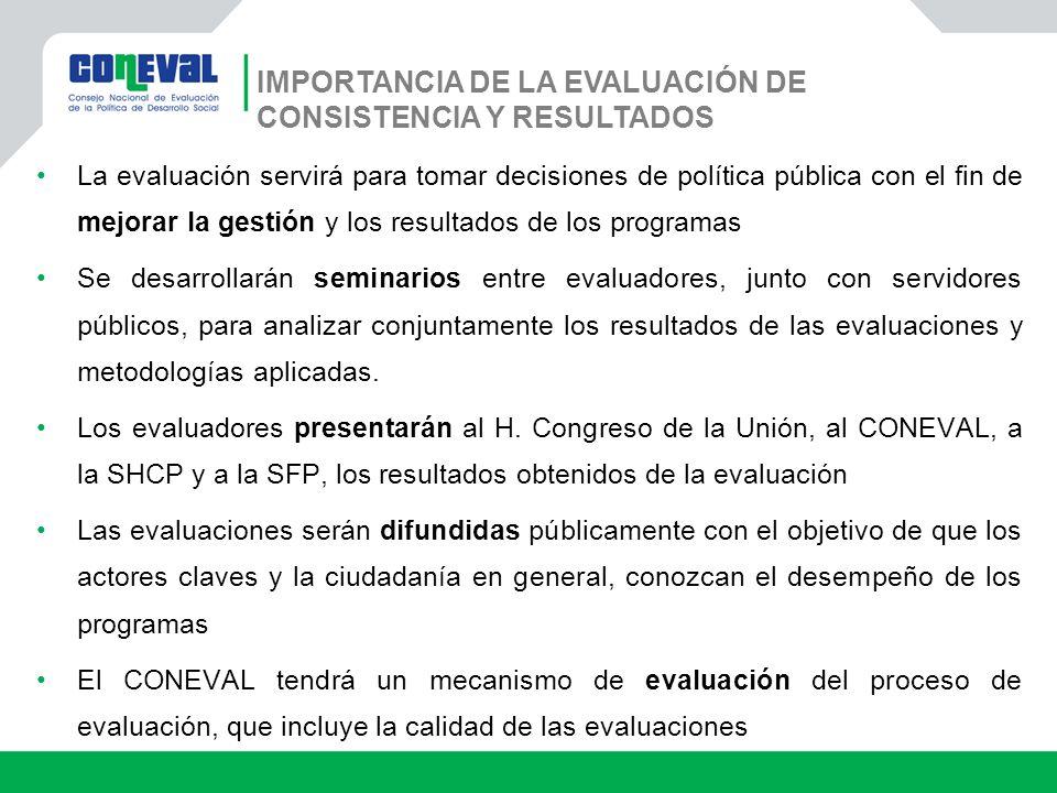 IMPORTANCIA DE LA EVALUACIÓN DE CONSISTENCIA Y RESULTADOS