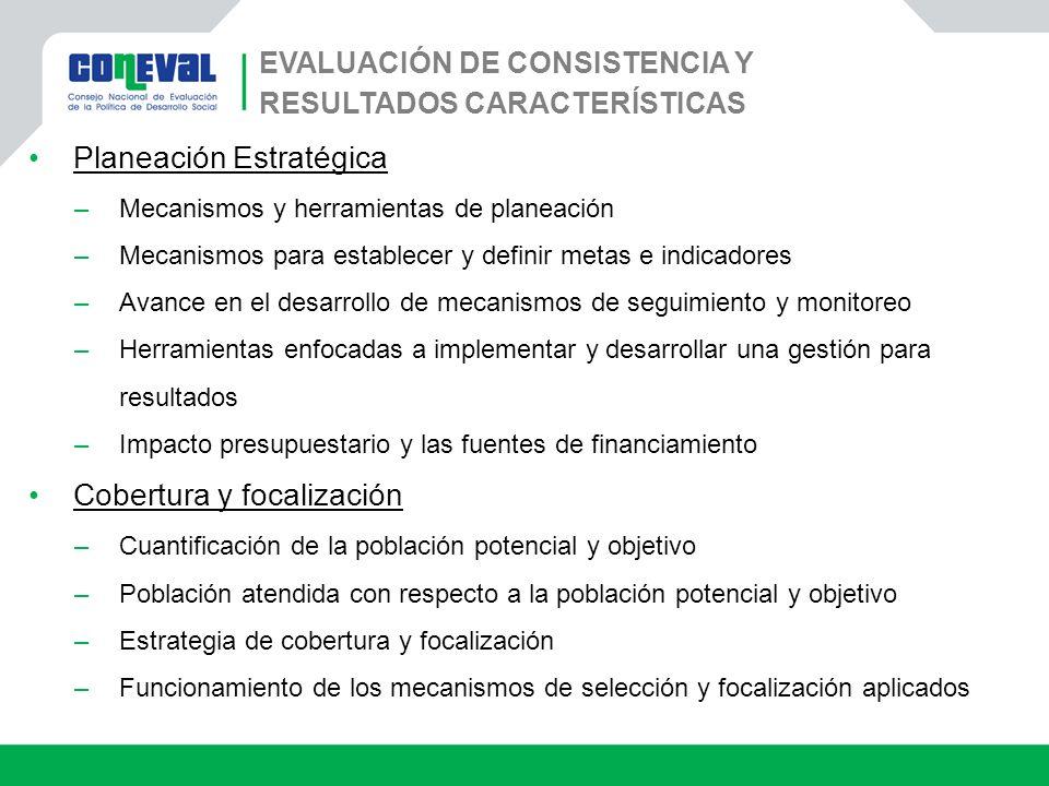 Evaluación de Consistencia y Resultados Características