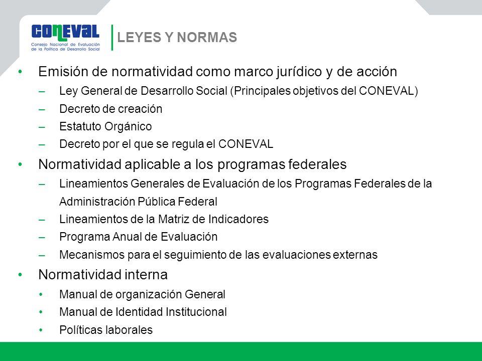 Emisión de normatividad como marco jurídico y de acción