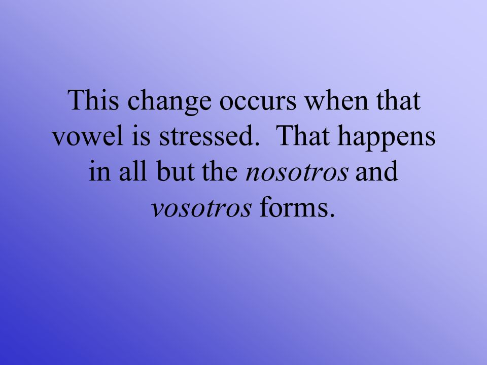 This change occurs when that vowel is stressed