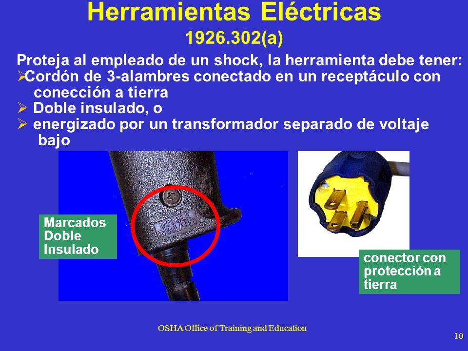 Herramientas Eléctricas 1926.302(a)