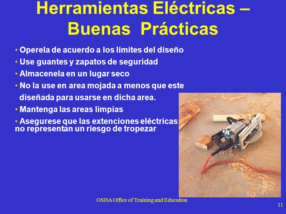 Herramientas Eléctricas – Buenas Prácticas