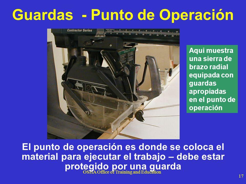 Guardas - Punto de Operación