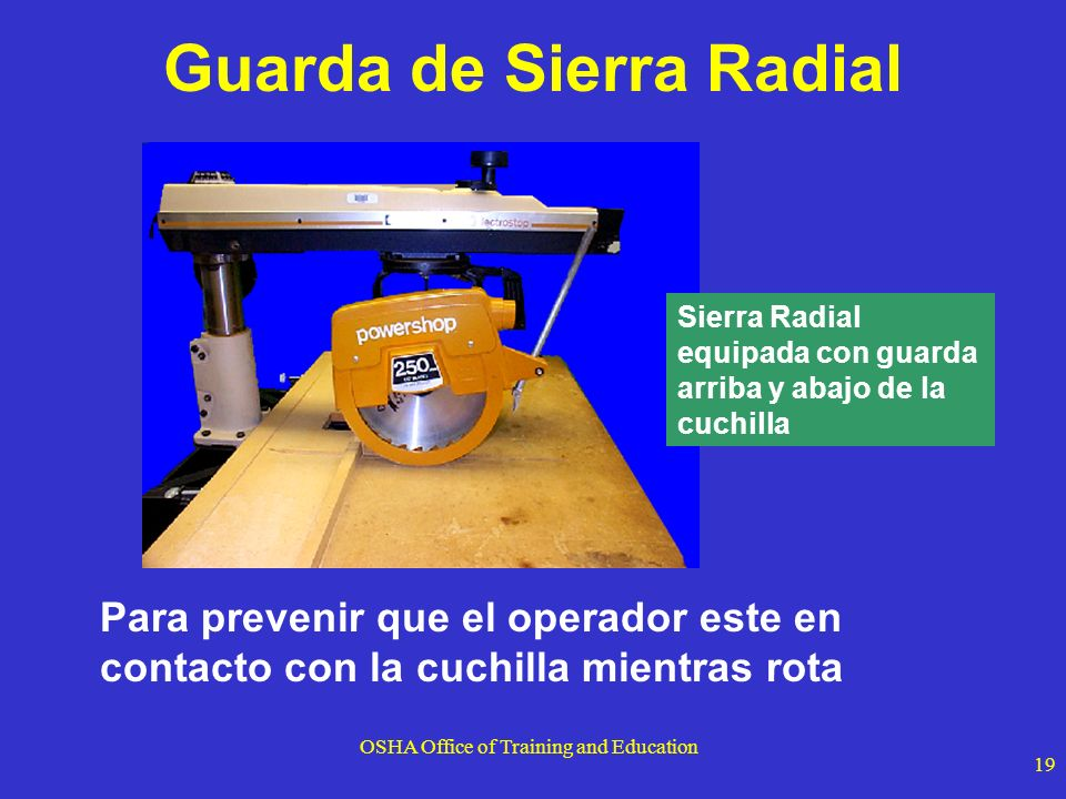 Guarda de Sierra Radial