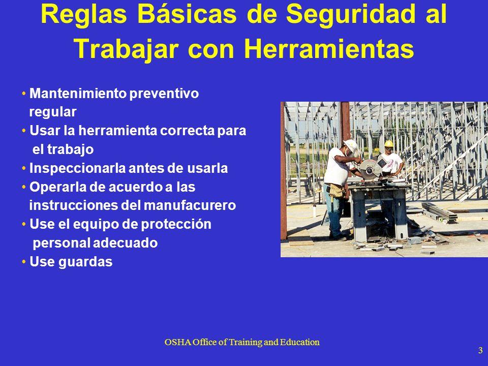 Reglas Básicas de Seguridad al Trabajar con Herramientas