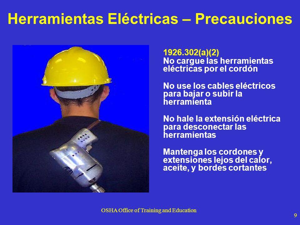 Herramientas Eléctricas – Precauciones