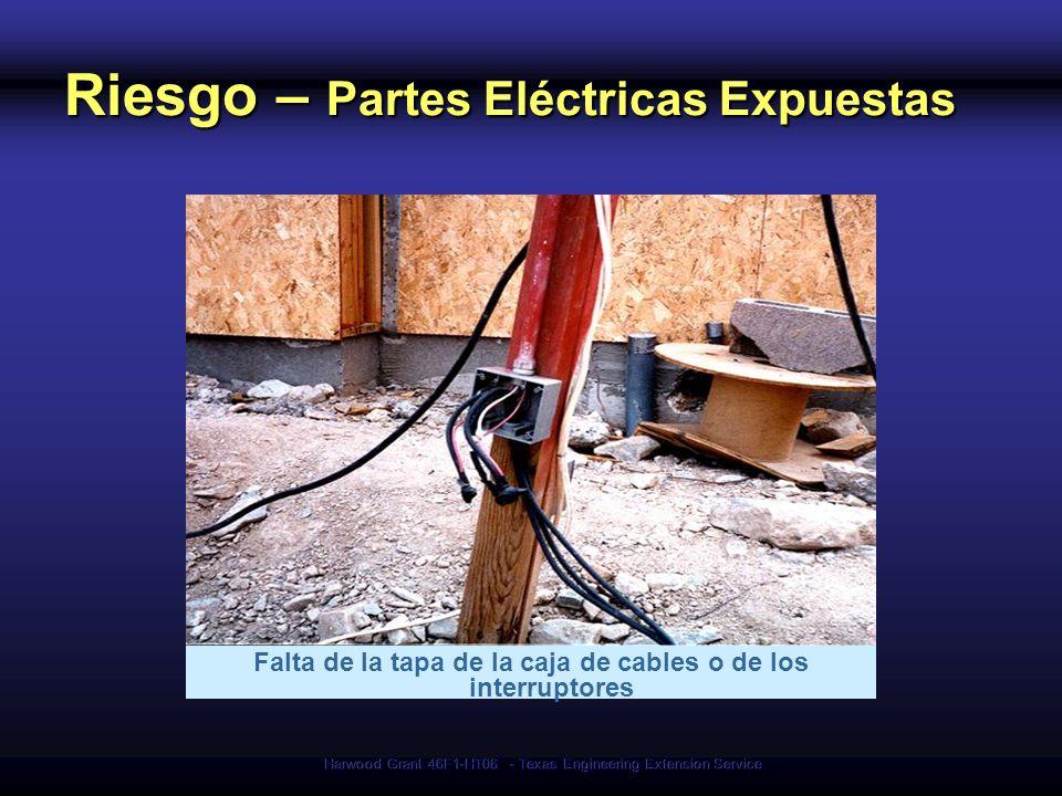 Riesgo – Partes Eléctricas Expuestas