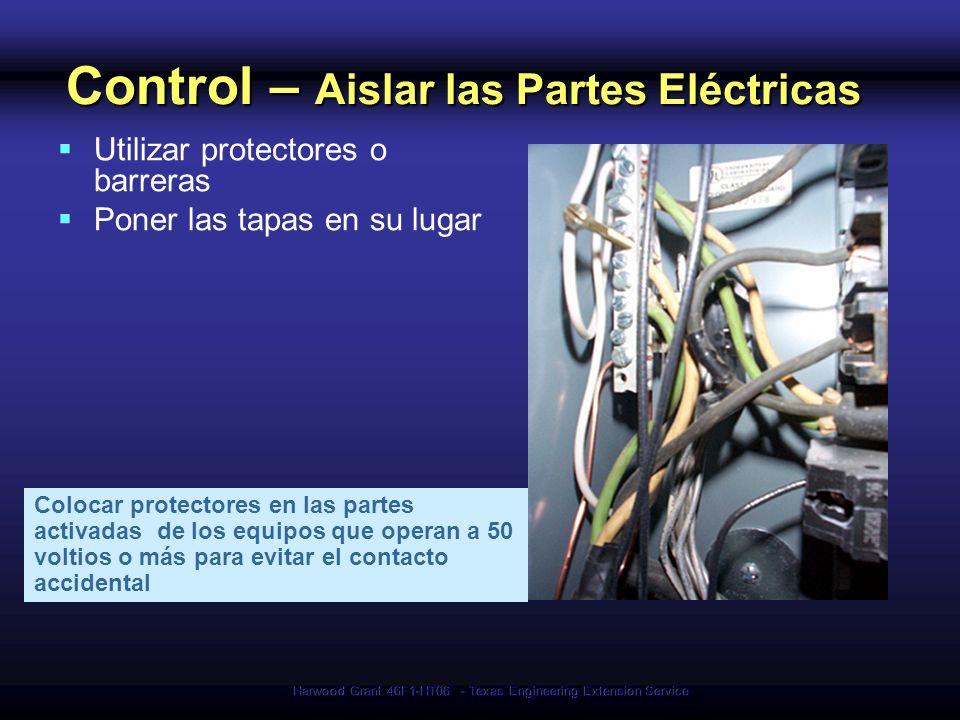 Control – Aislar las Partes Eléctricas