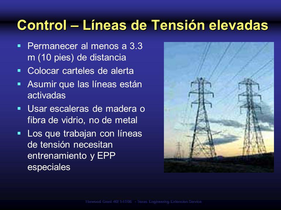 Control – Líneas de Tensión elevadas