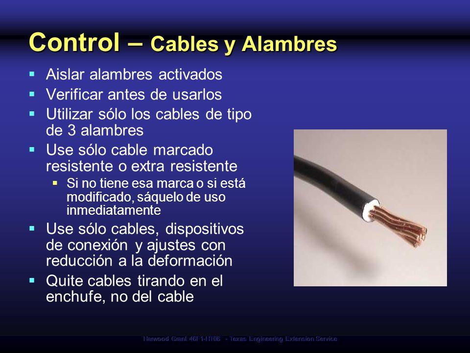 Control – Cables y Alambres