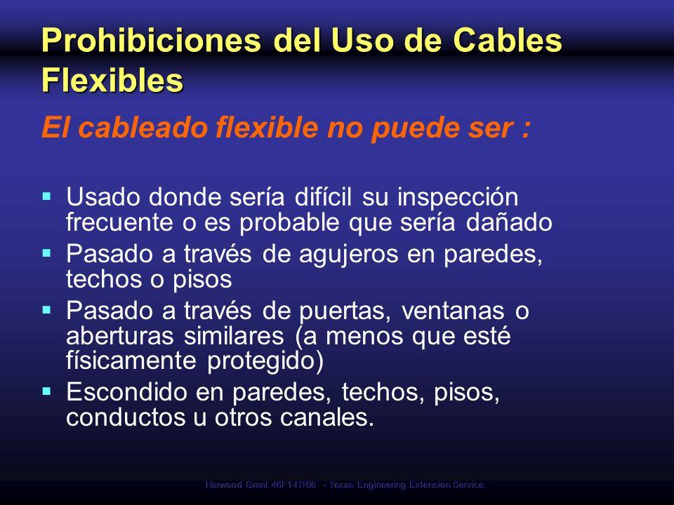 Prohibiciones del Uso de Cables Flexibles