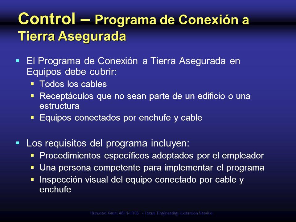 Control – Programa de Conexión a Tierra Asegurada