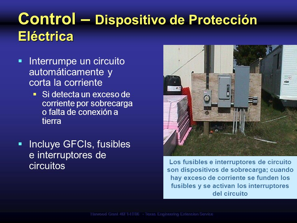 Control – Dispositivo de Protección Eléctrica